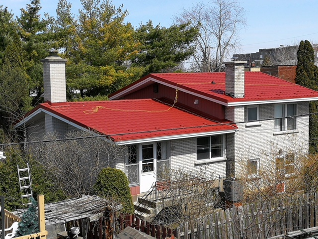 Our Realizations Metal Tech Roofing Toiture M 233 Tallique